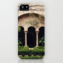 Van Gogh's Courtyard in St Remy iPhone Case