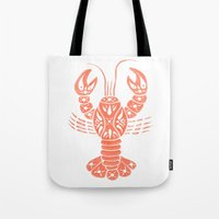lobster Tote Bags featuring Lobster by NoelleGobbi