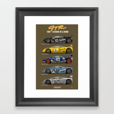 The McLaren 5 - 1995 Le Mans Winner + 4 Finishers Framed Art Print