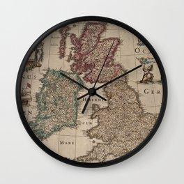 Vintage Map of The British Isles (1617) Wall Clock