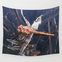 dragonfly Wall Tapestries featuring Dragonfly by Bor Cvetko