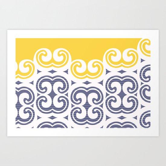 Modern Filigree  Art Print