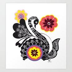 Indhi Swan Art Print