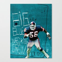 NY Giants' Lawrence Taylor Canvas Print