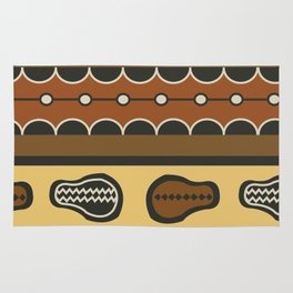 African Tribal Pattern No. 83 Rug