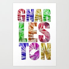 Gnarleston Tie-Dye Art Print
