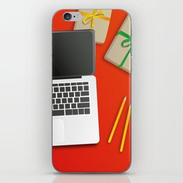 workplace at christmas time iPhone Skin