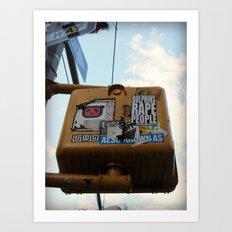Beware Art Print