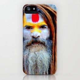 Holy Indian Man iPhone Case