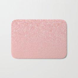 Rose Gold Glitter Cascade Bath Mat