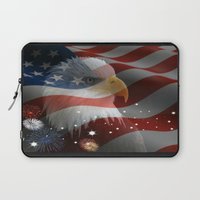 patriotic Laptop Sleeves featuring Patriotic America by D.A.S.E. 3
