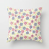 matisse Throw Pillows featuring Matisse Floral by Rosie Simons