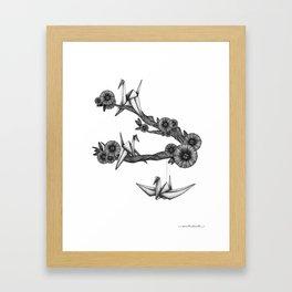 Origami Birds Framed Art Print