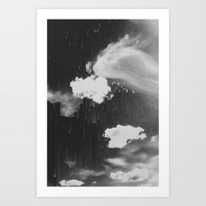 Cloudy Daze Art Print