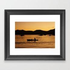 Tranquil Coron Framed Art Print