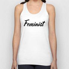 Feminist (on white) Unisex Tank Top