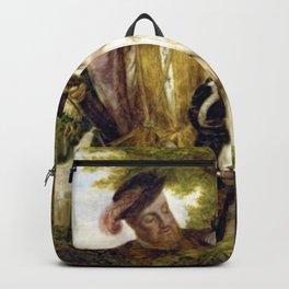 Tudor Romance - Henry VIII and Anne Boleyn hunting Backpack