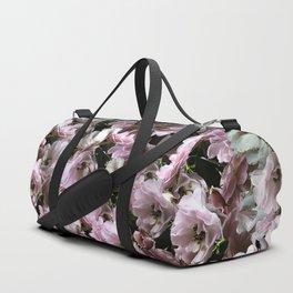 Pink Roses floral pattern Duffle Bag