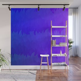 Blue Violet Purple Ombre Flame Texture Wall Mural