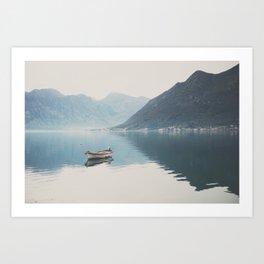 boat reflections ... Art Print