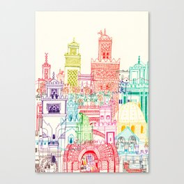 Marrakech Towers  Canvas Print