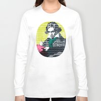 beethoven Long Sleeve T-shirts featuring Ludwig van Beethoven 9 by Marko Köppe