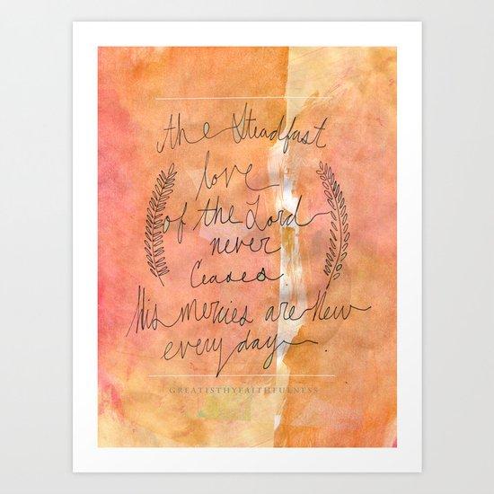 Great is thy Faithfulness Art Print