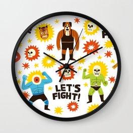 Wrestlers Wall Clock