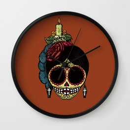 La Catrina Wall Clock