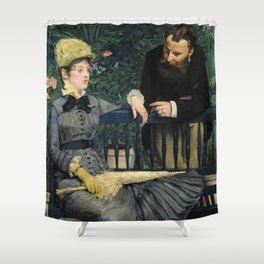 Edouard Manet - In the Conservatory Shower Curtain
