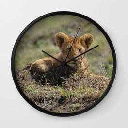 Adorable Lion Cub Wall Clock