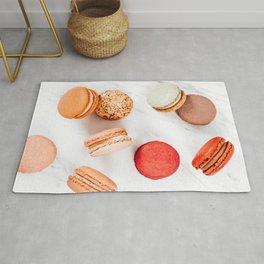 Sweet Macaron, Macarons Cookies Print, French Macaroons Minimal Art Print, Minimalist Modern Home Decor, Food Print Rug