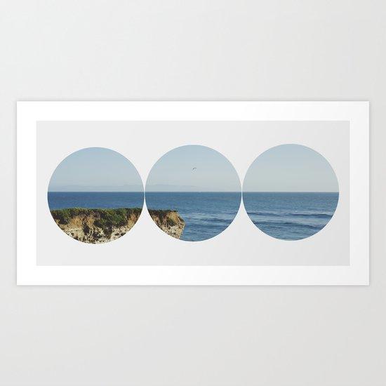 ROUND OCEAN Art Print