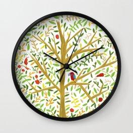 White Oak Crown Wall Clock