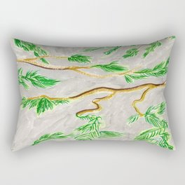 Hemlock Study Brush Pen Illustration by Amanda Laurel Atkins Rectangular Pillow