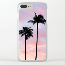 Palm Trees Sunset Photography Clear iPhone Case