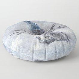 Cute snowman frozen freeze Floor Pillow
