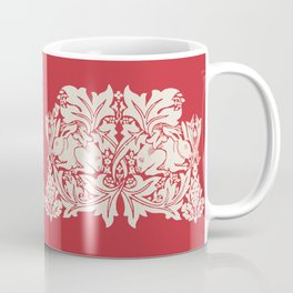 William Morris Style Victorian Christmas Bunnies Coffee Mug