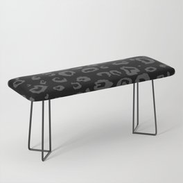 Black and Gray Leopard Bench