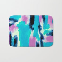 pink black and blue painting texture abstract background Bath Mat