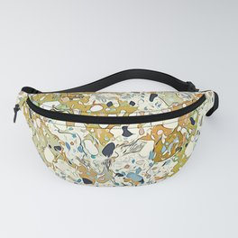 Camel yellow & olive green vibes Fanny Pack