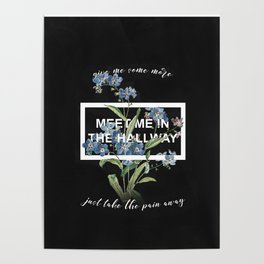 Harry Styles Meet me in the hallway graphic design artwork Poster
