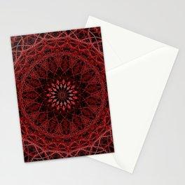 Helter Skelter Red Neon Mandala Stationery Cards