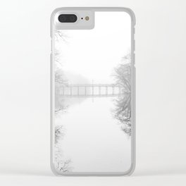 Spring Lake New Jersey in the Fog Clear iPhone Case