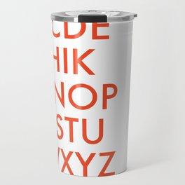 Futura Typography Poster Travel Mug