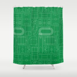 Sport Courts Pattern Art Shower Curtain
