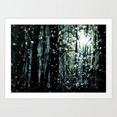 Blue Burns the Twilight Art Print