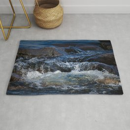 Rocks at Mississippi Headwaters Rug