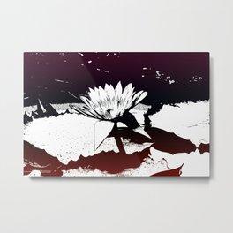 Stylized Water lily Metal Print