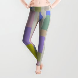 Pastel colored blocks Leggings